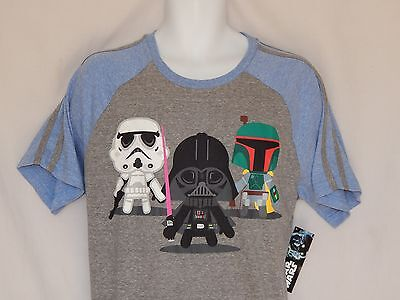 NEW Star Wars Darth Vader Kylo Chibi Figure Short Sleeve T-Shirt Top MEN/'S S M L
