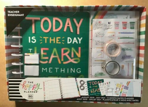"""NEW 2020-2021 The Happy Planner Classic TEACHER """"TODAY IS THE DAY"""" Box Kit"""