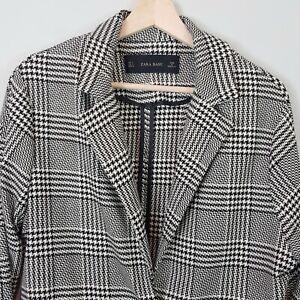 ZARA-Womens-Houndstooth-Blazer-Jacket-Size-S-AU-10-or-US-6