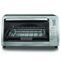 Black And Decker Stainless Steel Countertop Convection Oven Bake Broil Toast