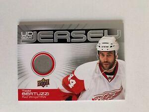 2010-11 Upper Deck Game Jerseys #GJTB Todd Bertuzzi - Detroit Red ...