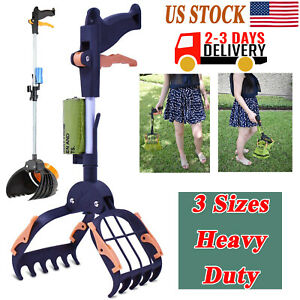 """Dog Pooper Scooper Large for Pets and Cats Heavy Duty 15"""" - 28"""" - {UPGRADED}"""