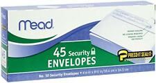 2 Pack of Mead Press-it Seal-it #10 Security Envelopes 4.125 in X 9.5 in, White,