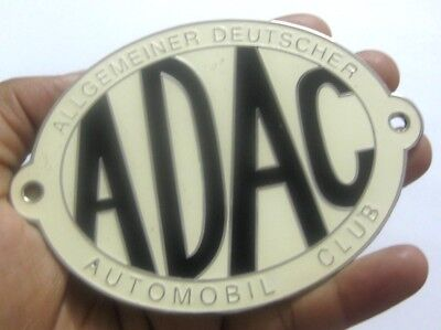 Vehicle Parts & Accessories Adac Allgemeiner Deutschet Automobile Club Car Grill Badge Emblem Metal Enamled To Win Warm Praise From Customers Badges & Mascots