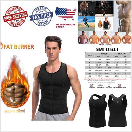 Fajas adelgazar para hombres para-sudar y perder peso Entrenador de cintura Vest