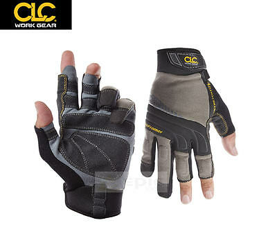 MaxPow® Carpenter 3 Finger Gloves Mechanics Work Working Safety Padded Knuckle