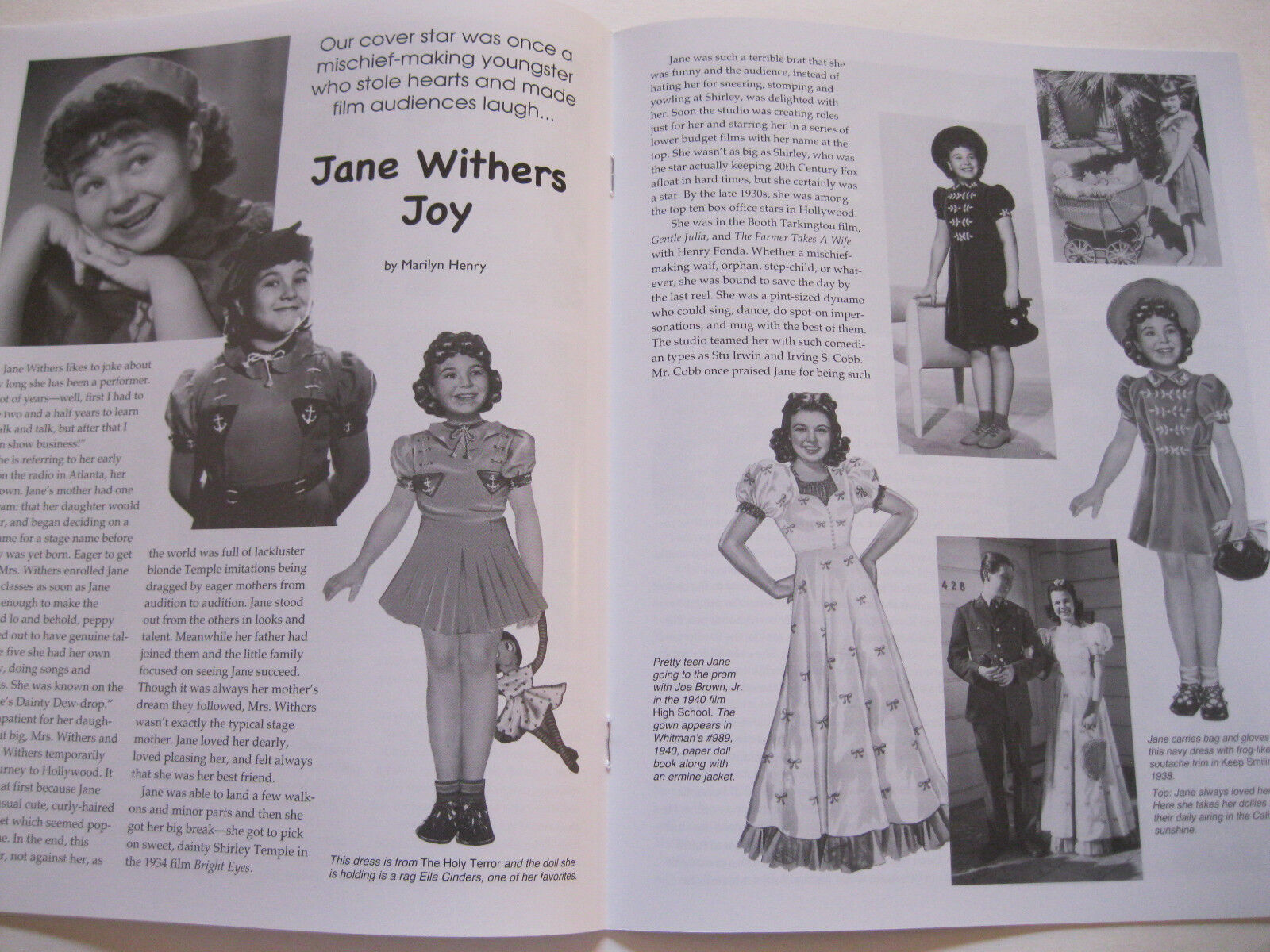 Miloche Jane Withers 2010--/'50s Fashions Paperdoll Review Magazine Issue #48