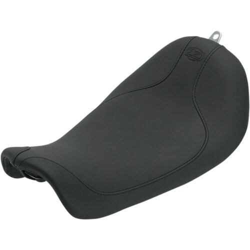 Mustang Black Low Profile Runaround Solo Seat 2006-17 Harley Dyna Models