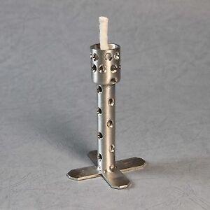 dochthalter 10 cm alu brenner mit glasfaserdocht kerzenreste schmelzlicht ebay. Black Bedroom Furniture Sets. Home Design Ideas