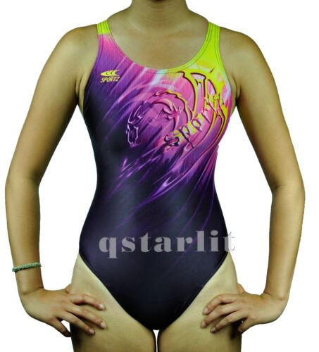 Girls Juniors Female Practice Competition Bathing Swimsuit Swimwear Sizes 24-34