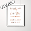Engagement Announcement Print in Copper Foil Happily ever after love quote art
