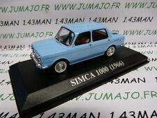 voiture 1/43 IXO altaya : SIMCA 1000 1966 bleu