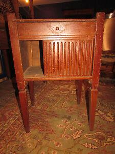 ancien chevet a rideau epoque louis xvi noyer - Table De Nuit Rustique