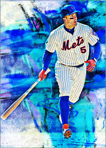 2021 David Wright New York Mets 14/25 Art ACEO Print Card By:Q