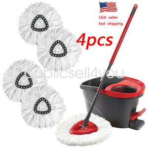 4Pc-Replacement-Head-Easy-Home-Cleaning-Mopping-Wring-Spin-Mop-Refill-O-Cedar-US