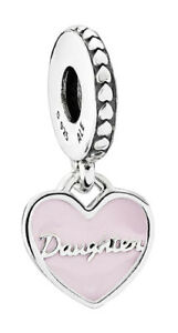 Pandora 792072EN40 Mother & Daughter Hearts Pendant Charm - Silver