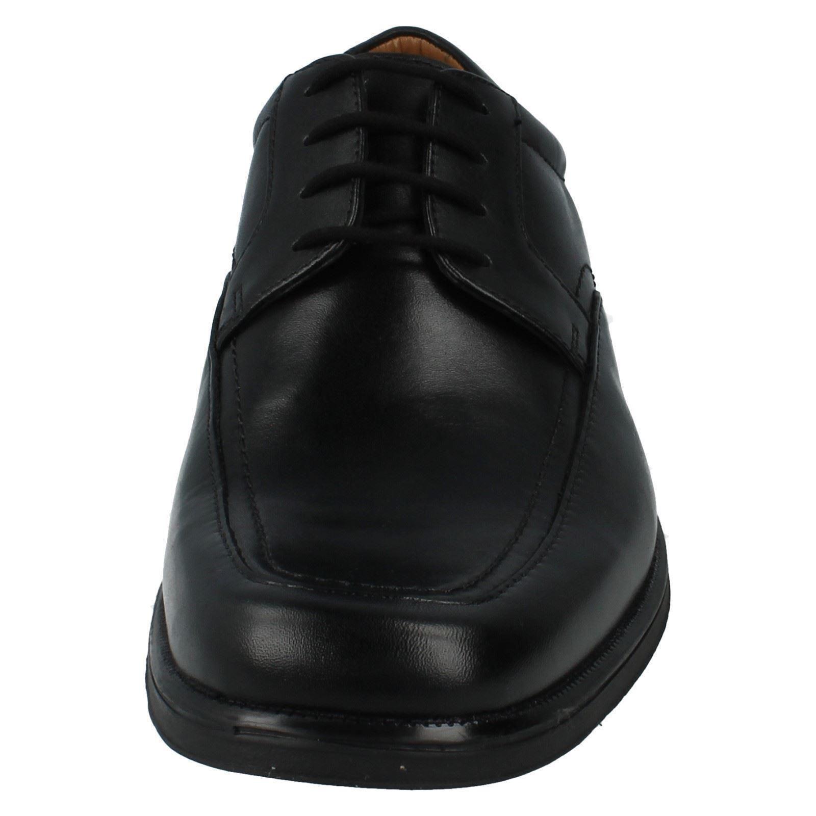 Herren huckley Spring schwarzes G PASSFORM schwarzes Spring Leder Spitze bis Schuh von Clarks 031f43
