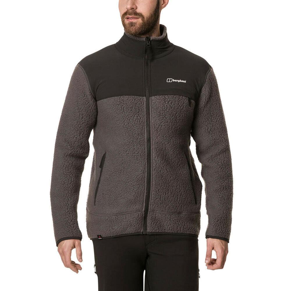 Berghaus Mens Syker Jacket Top - grau Sports Outdoors Full Zip Warm Breathable
