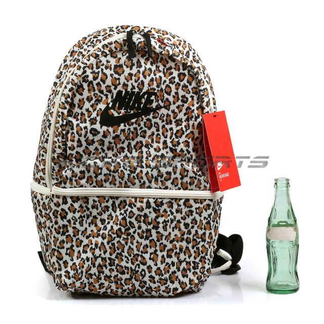 d6d3b571ade2b Nike Heritage Backpack & Bookbag Leopard Print Pale Ivory/Black/Black  BA5761-110