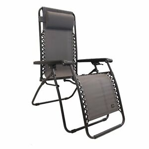 Awesome Details About Bliss Hammocks Gfc 430P C 26 Inch Zero Gravity Lounger Chair With Pillow Gray Squirreltailoven Fun Painted Chair Ideas Images Squirreltailovenorg