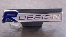 R DESIGN Car Front Grill Badge BLUE