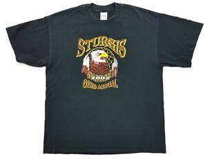 Vintage Sturgis Eagle Dreamcatcher 2002 Tee Black Size XL Mens T-Shirt