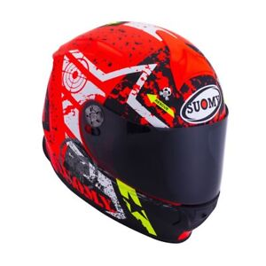 CASCO-INTEGRALE-SUOMY-SR-SPORT-RACING-STARS-ORANGE-PISTA-MOTO-RED-ORANGE-FLUO