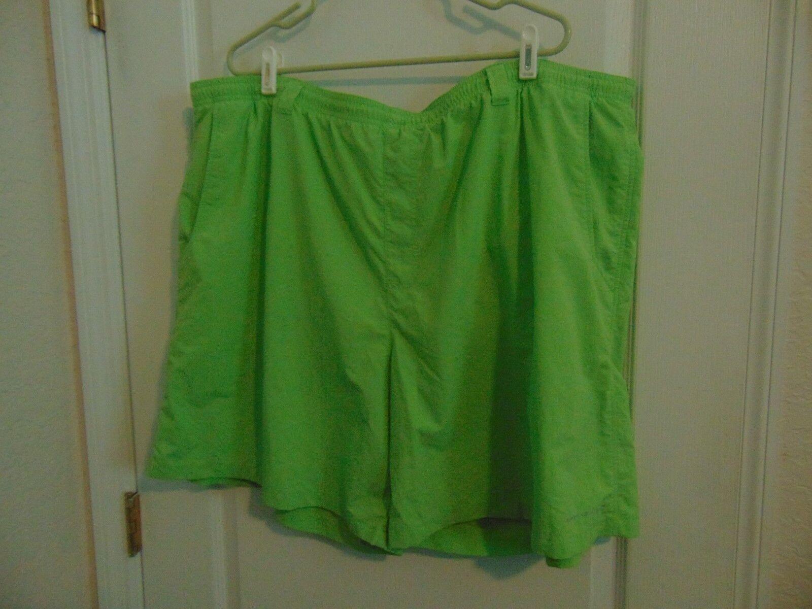 Men's Columbia Sportswear Co Green Nylon Swim Trunks-4X Ins.8