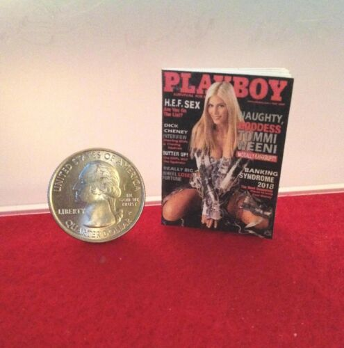 "1:6 Handmade mini toy for 11/""-12/"" fashion doll Playboy magazine #1 w//real pages"
