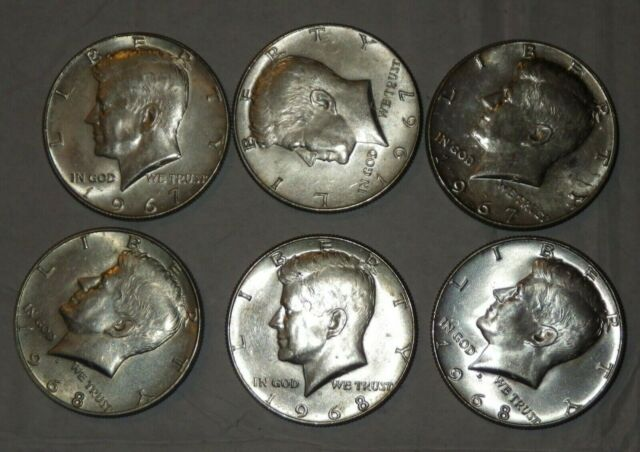 1976 S Proof 1 Silver And 1 Clad Kennedy Half Dollars Sale Is For 2 Coins Total