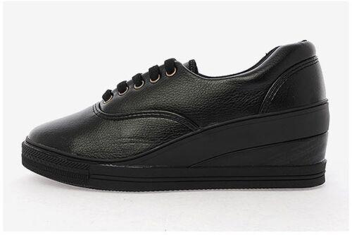 MAX Ladies Women Wedges Shoes Sneakers Heels Casual Platforms Walking Lace up