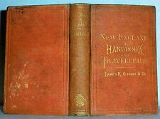 1873 First Edition NEW ENGLAND Travel Guide Maine Connecticut Canada Railroad
