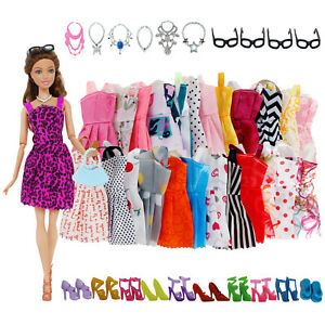 32-Pack-Barbie-Doll-Clothes-Party-Gown-Outfits-Shoes-Glasses-Necklaces-for-Girl