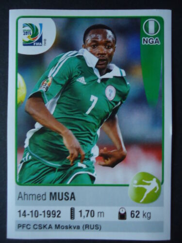 Panini 234 Ahmed Musa Nigeria Confed Cup 2013 Brasilien