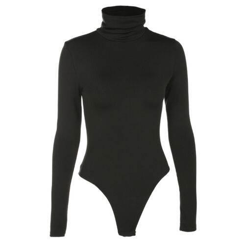 Summer Women Long Sleeve Bodysuit Top Romper Jumpsuit Swimwear  Size S-XL