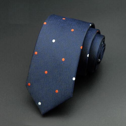 Factory 6cm Classic Men POLYESTER Plaid Skinny Narrow Ties Necktie Groomsmen Tie