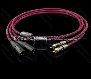 1pair-4core-OFC-RCA-to-XLR-male-Audio-Interconnect-balanced-cable-cord-6-5mm
