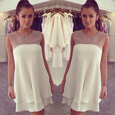 New Women Summer Casual Sleeveless Dresses Cocktail Short Mini Dress Stylish
