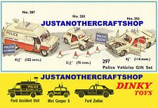 Dinky Toys Police Gift Set 297 A3 Size Poster Advert Leaflet Mini 250 & 255 287