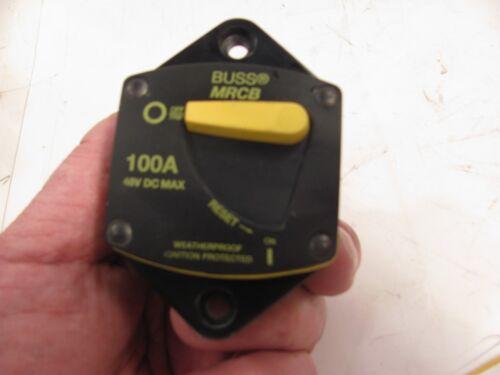 BUSS MRCB 100 AMP BREAKER   COUNTRY COACH 187100-03-1