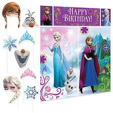 Disney Frozen Premium Photo Booth Birthday Party Fun Props Kit