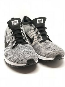 323c9d9eaceb7 Nike Zoom Flyknit Streak Running Shoes Size 14 Black Wolf Grey-White ...