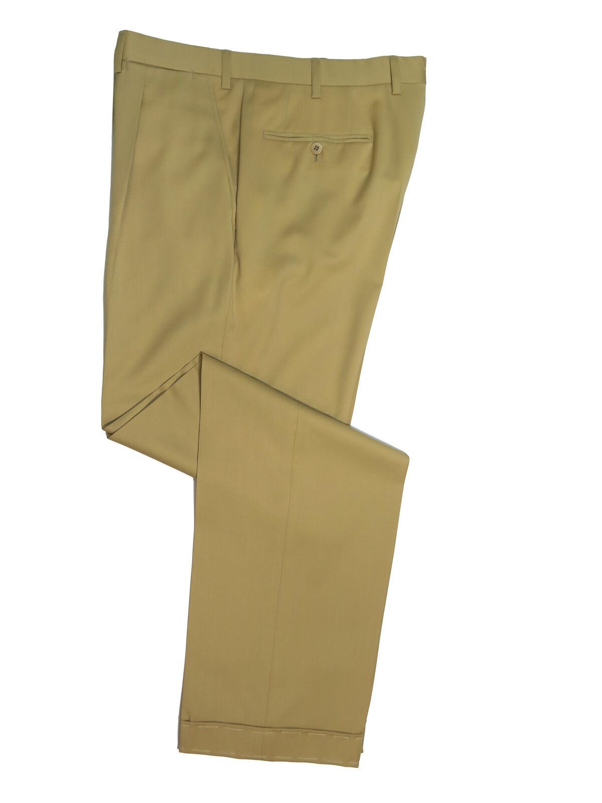 Brioni  Men's Khaki Delta Lightweight Wool Casual Pants 34