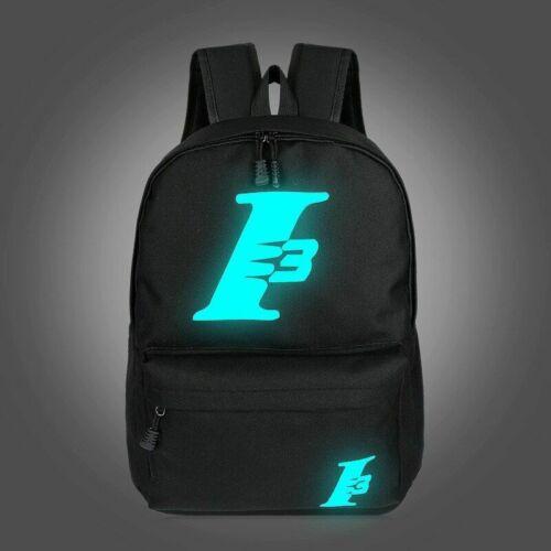 School Backpacks Teenage Boy Girls Polyester Luminous Cat Cartoon Student Bag