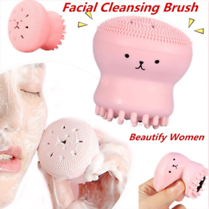 Cute-Octopus-Jellyfish-Facial-Cleansing-Brush-Facial-Massage-Exfoliating-Tool