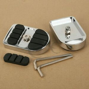 Chrome-Brake-Pedals-Pads-Fit-Harley-Dyna-FXD-12-16-Softail-FL-86-17-Touring-80