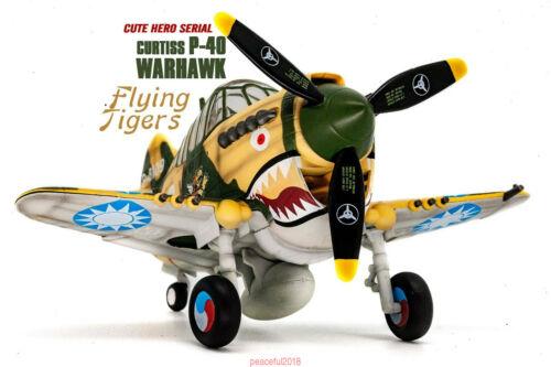 T-Model Curtiss P-40 Warhawk Fighter w//Pilot Q Edition WWII Finished Model Kits