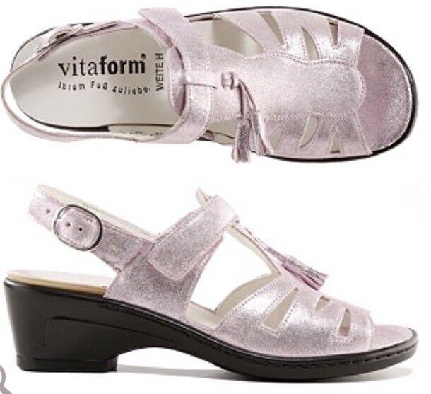 VITAFORM Sandaleette echt Leder Klettverschluss Absatz ca. 4,5cm Gr.40
