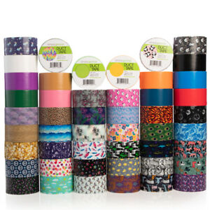 Single Roll Simply Genius Patterned Duct Tape Roll Craft Supplies for Kids Adults Colored Duct Tape Colors