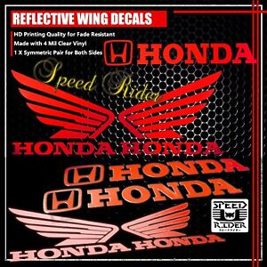 LEFT-RIGHT-FAIRING-FUEL-TANK-REFLECTIVE-STICKER-WING-VINYL-DECAL-FOR-HONDA-RED